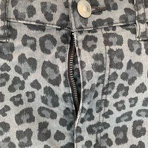 Divided Pants - Punk rock cheetah print grey divided h & m skinny